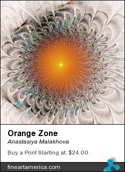 Orange Zone by Anastasiya Malakhova - fractal art