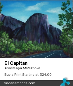 El Capitan by Anastasiya Malakhova - acrylic on canvas