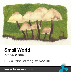 Small World by Sheila Byers - Drawing - Coloured Pencil Drawing