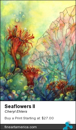 Seaflowers II by Cheryl Ehlers - Painting - Watercolor