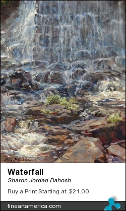 Waterfall by Sharon Jordan Bahosh - Painting - Oils On Canvas