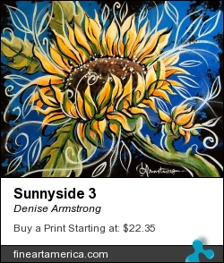 Sunnyside 3 by Denise Armstrong - Painting - Acrylic