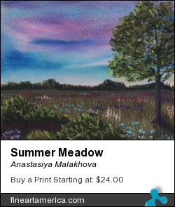 Summer Meadow by Anastasiya Malakhova - pastels on paper