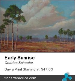 Early Sunrise by Charles Schaefer - Painting - Oil On Canvas