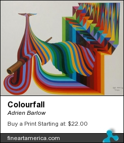 Colourfall by Adrien Barlow - Painting - Acrylic On Canvas