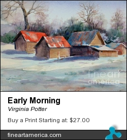 Early Morning by Virginia Potter - Painting - Watercolor