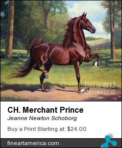 Ch. Merchant Prince by Jeanne Newton Schoborg - Painting - Oil On Canvas