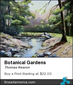 Botanical Gardens by Thomas Kearon - Painting - Acrylic On Board