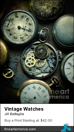 Vintage Watches by Jill Battaglia - Photograph - Fine Art Photography