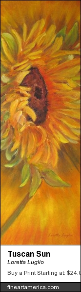 Tuscan Sun by Loretta Luglio - Painting - Oil On Canvas