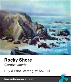 Rocky Shore by Carolyn Jarvis - Painting - Oil