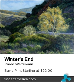 Winter's End by Karen Wadsworth - Painting - Oil On Canvas-covered Board