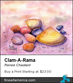 Clam-a-rama by Renee Chastant - Painting - Watercolor On Paper