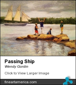 Passing Ship by Wendy Gordin - Painting - Oil On Canvas