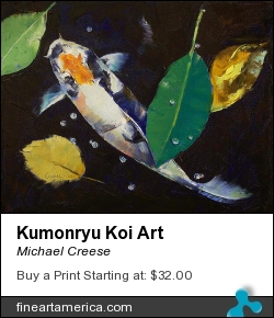 Kumonryu Koi Art by Michael Creese - Painting - Oil On Canvas