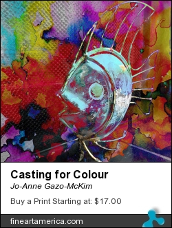 Casting For Colour by Jo-Anne Gazo-McKim - Painting - Digital Art
