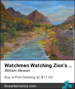 Watchmen Watching Zion's Watchman by William Stewart - Painting - Aqrylic