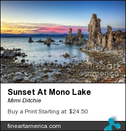 Sunset At Mono Lake by Mimi Ditchie - Photograph - Photograph