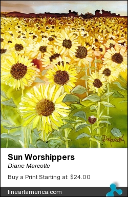 Sun Worshippers by Diane Marcotte - Painting - Alcohol Ink On Yupo