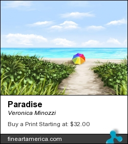 Paradise by Veronica Minozzi - Painting - Ipad Painting