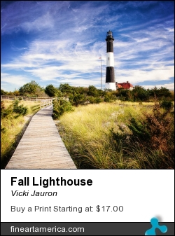 Fall Lighthouse by Vicki Jauron - Photograph - Photography
