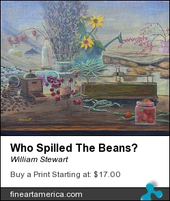 Who Spilled The Beans? by William Stewart - Painting - Aqrylic