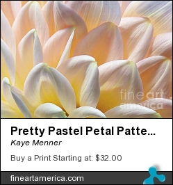 Pretty Pastel Petal Patterns by Kaye Menner - Photograph - Photography, Texture