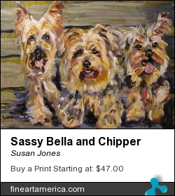 Sassy Bella And Chipper by Susan Jones - Painting - Oil On Museum Quality Panel