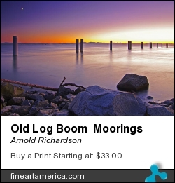 Old Log Boom Moorings by Arnold Richardson - Photograph