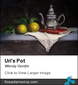 Uri's Pot by Wendy Gordin - Painting - Oil