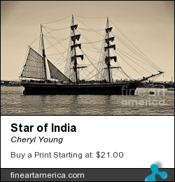 Star Of India by Cheryl Young - Photograph - Photography