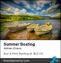 Summer Boating by Adrian Evans - Photograph