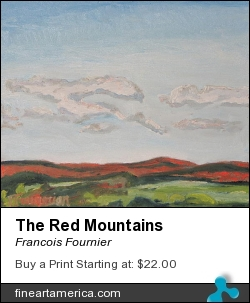 The Red Mountains by Francois Fournier - Painting - Oil Painting