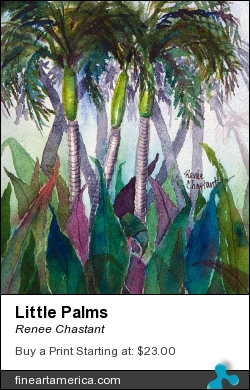 Little Palms by Renee Chastant - Painting - Watercolor On Paper