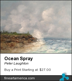 Ocean Spray by Peter Laughton - Painting - Oil On Canvas
