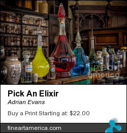 Pick An Elixir by Adrian Evans - Photograph