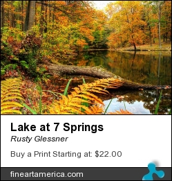 Lake At 7 Springs by Rusty Glessner - Photograph - Photograph