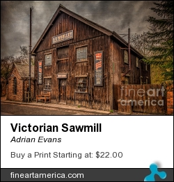 Victorian Sawmill by Adrian Evans - Photograph