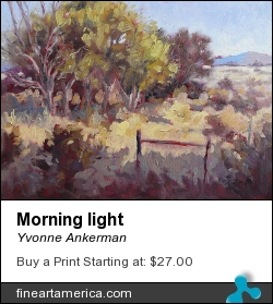 Morning Light by Yvonne Ankerman - Painting - Oil On Canvas