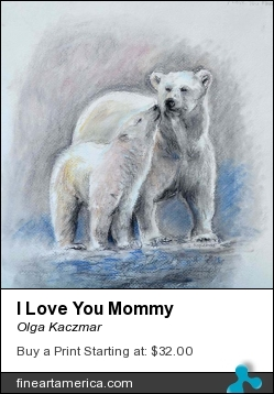 I Love You Mommy by Olga Kaczmar - Painting - Pastel