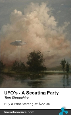 Ufo's - A Scouting Party by Tom Shropshire - Painting - Acrylic On Canvas