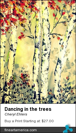 Dancing In The Trees by Cheryl Ehlers - Painting - Acryllic On Paper