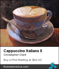 Cappuccino Italiano II by Christopher Clark - Painting - Oil On Canvas