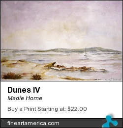 Dunes Iv by Madie Horne - Painting - Watercolors