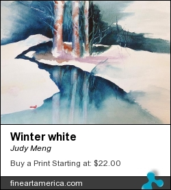 Winter White by Judy Meng - Painting - Watercolor