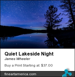 Quiet Lakeside Night by James Wheeler - Photograph