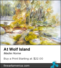 At Wolf Island by Madie Horne - Painting - Watercolors