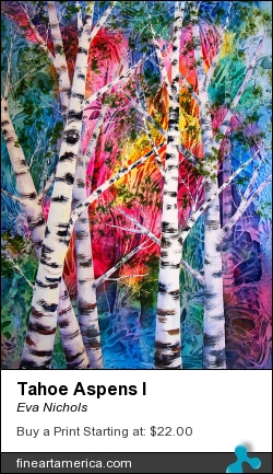 Tahoe Aspens I by Eva Nichols - Painting - Watercolor