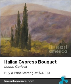 Italian Cypress Bouquet by Logan Gerlock - Painting - Oil On Canvas