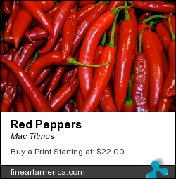 Red Peppers by Mac Titmus - Digital Art - Photography